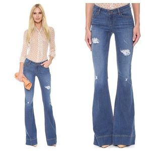Alice + Olivia Ryley Distressed Bell Jeans NWT